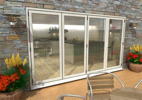 Bifold Patio Doors Aluminium 3600mm 12ft 4 Door 3 1 Climadoor White Aluminium Bi Folding Patio Doors