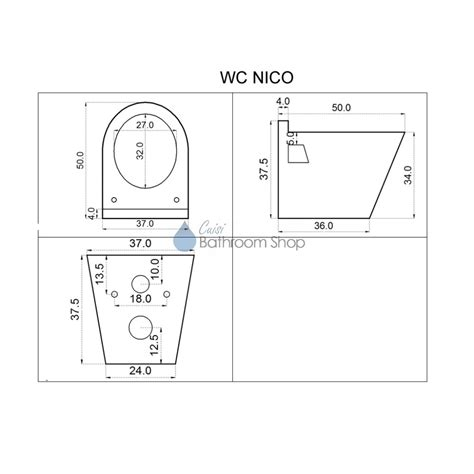 afmetingen ophang wc hang wc nico 3001