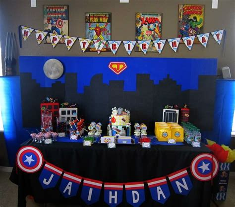 avengers photo booth layout superhero party i made for my sons 8th birthday it was