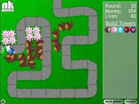 tutorial construct 2 tower defense bloons tower defense rounds 1 50 video tutorial youtube