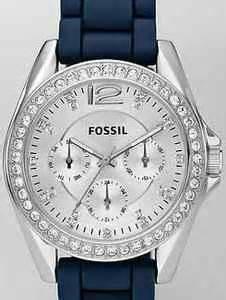 fossil 107 blue new fossil s stella aqua teal blue white