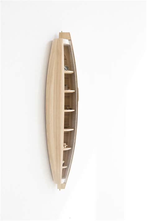 boat shaped wall shelf a boat shaped wall shelf by jeremy zietz ignant de