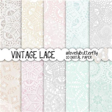 Wedding Invitations Vintage Lace by Vintage Lace Digital Paper Wedding Invitation Digital