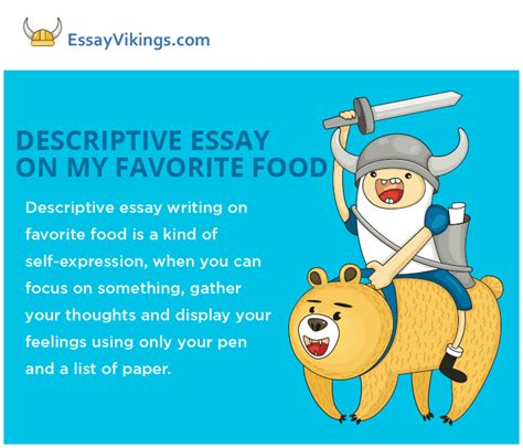 Descriptive Essay Food by Descriptive Essay About My Favorite Food Essayvikings