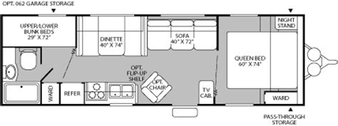 Wilderness Travel Trailer Floor Plan by 2005 Fleetwood Wilderness Yukon Travel Trailer Rvweb Com