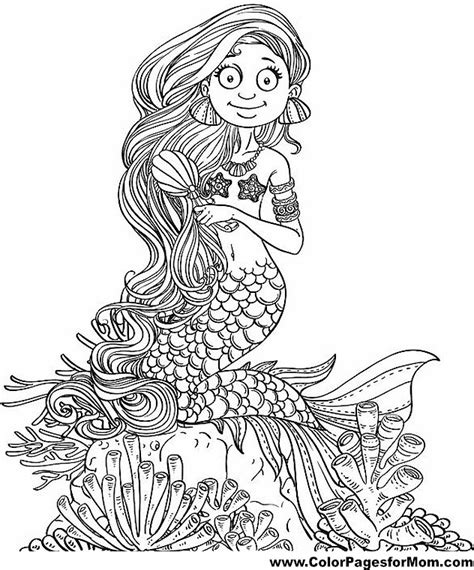 coloring pages for adults mermaid free coloring pages of mermaids for adults