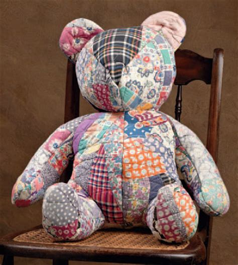 Patchwork Teddy Pattern - antique quilt patterns link two stitch this