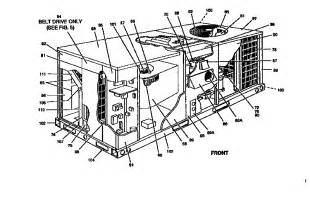 figure 2 diagram parts list for model d7cg048n06046 york parts heating cooling package unit