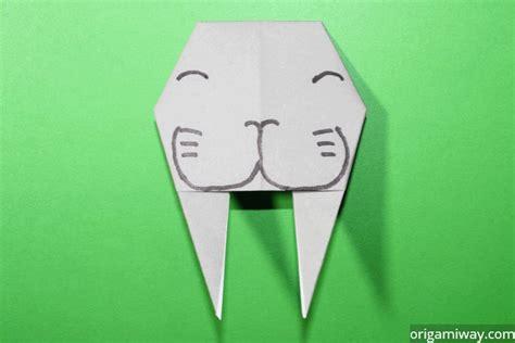 Walrus Origami - easy origami walrus