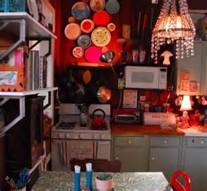 lovely How Do You Hang Kitchen Wall Cabinets #8: bohemian-decorating-style-pictures-the-kitchen-is-truly-bohemian-chic-with-a-twist-of-whimsy-and-lots-of.jpg