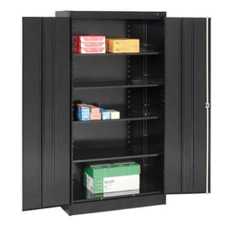 Black Metal Storage Cabinet by Cabinets Storage Tennsco Metal Storage Cabinet 1470 03