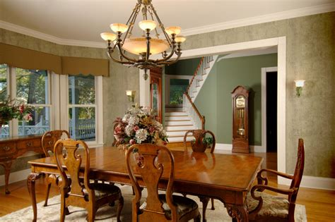 victorian traditional dining room  metro