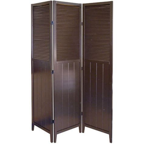 Room Separators Walmart by Ore International Shutter Door 3 Panel Room Divider