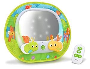 baby car mirror with remote and lights brica munchkin baby in sight magical firefly rear view