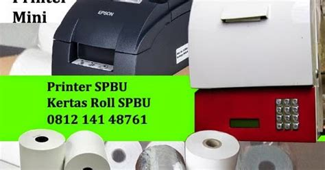 Printer Spbu kertas roll spbu kertas kasir mini printer kertas roll spbu