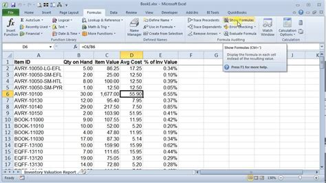 Formulas For Excel Spreadsheets by Show And Hide Formulas In Excel