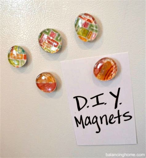 Handmade Fridge Magnets Ideas - diy magnets balancing home with megan bray