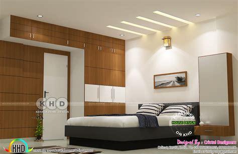 master bedroom living kitchen interior kerala home