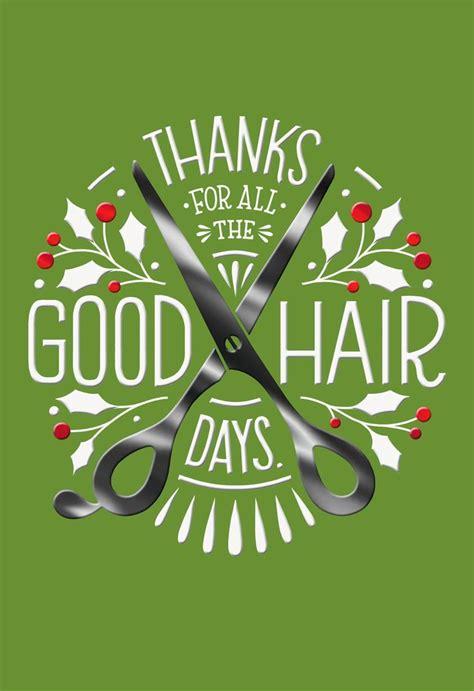 christmas greeting hair stylists hair stylist thank you card greeting cards hallmark
