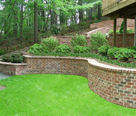 backyard off contour grading retaining walls erosion control