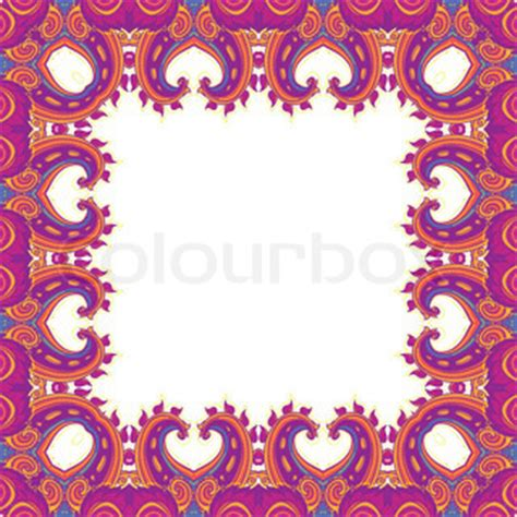 paisley pattern photo frame floral paisley frame vector art vector colourbox