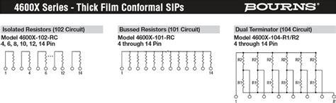 resistor network design sip resistor network