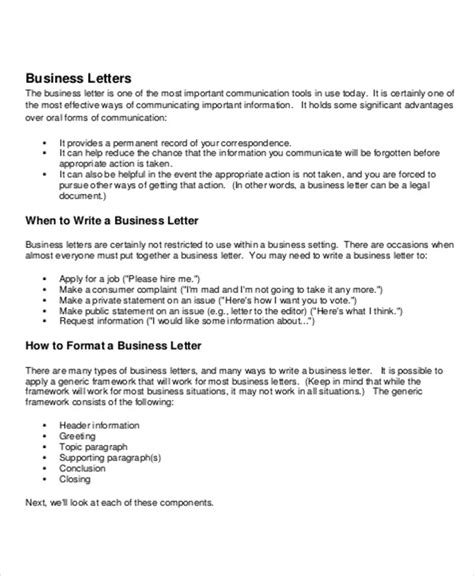 Business Letter Salutations Template sle business letter salutation 5 exles in word pdf