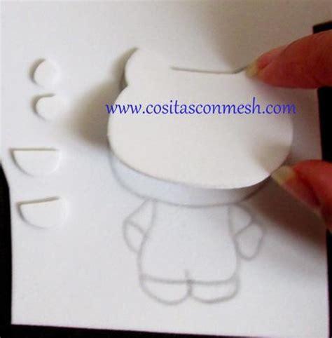 como hacer la cabeza de hello kity para disfraz c 243 mo hacer hello kitty en goma eva paperblog