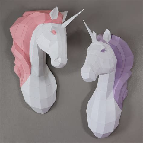 Papercraft Unicorn - diy papercraft unicorn with oxygami kavett
