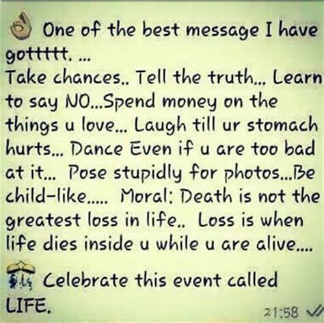 one of the best message take chances inspirational