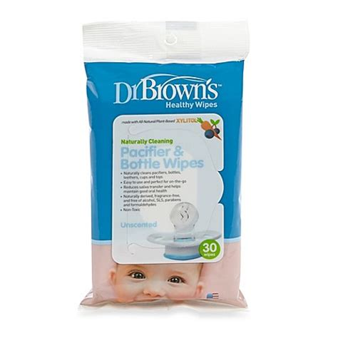 Dr Browns Healthy Wipes 30 S dr brown s 174 30 pack pacifier and bottle wipes bed bath beyond