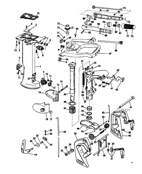 evinrude parts diagram 85 hp chrysler outboard engine diagram get free image