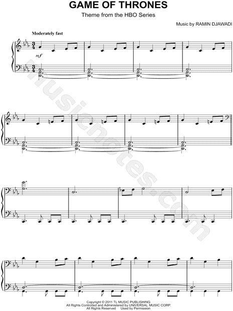 theme music game of thrones download quot game of thrones quot from game of thrones sheet music