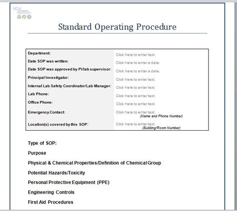 free sop templates microsoft word 37 best free standard operating procedure sop templates