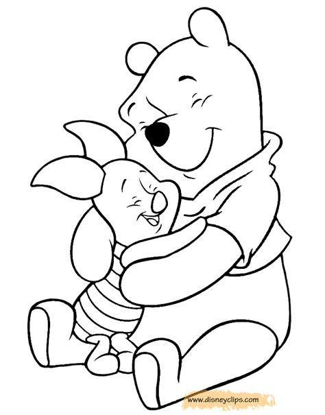 winnie the pooh friends coloring pages 4 disney