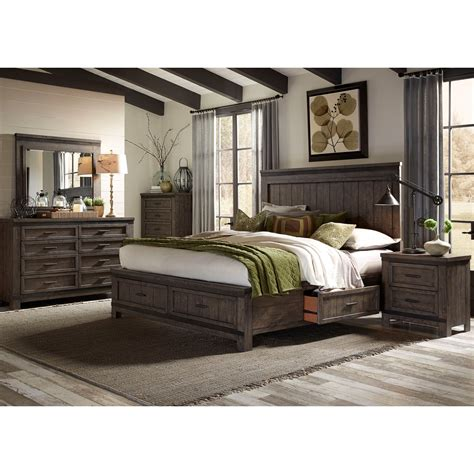 liberty furniture bedroom sets liberty furniture thornwood hills 759 br k2sdmcn king