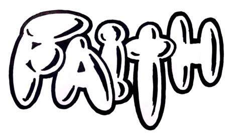 the word in graffiti how to draw graffiti letters the word faith