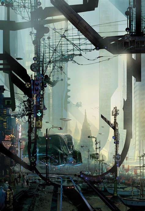 cyberpunk city concept environment sci fi concept art cyberpunk futuristic city digital art of stephan