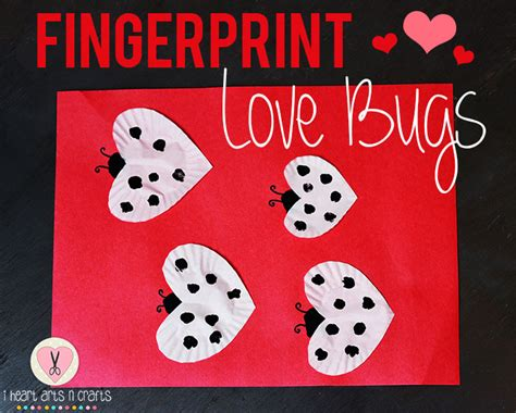 arts and crafts ideas for valentines day fingerprint bugs easy s day craft i