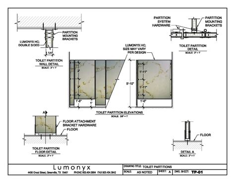 Bathroom Partition Details Dwg Drawings For A Variety Of Applications Lumonyx