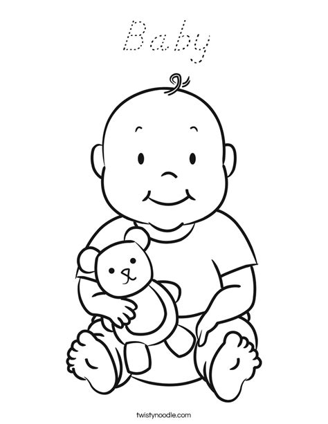 welcome baby coloring pages baby coloring page d nealian twisty noodle