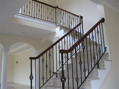 wrought iron banisters colonial stair railing