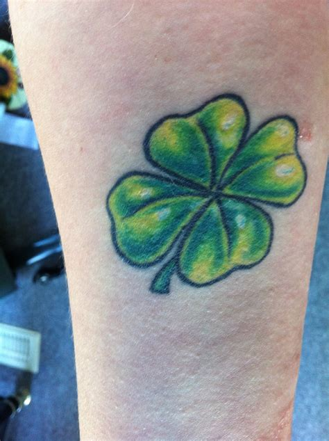 tattoo 4 leaf clover designs four leaf clover done for luck when one of my