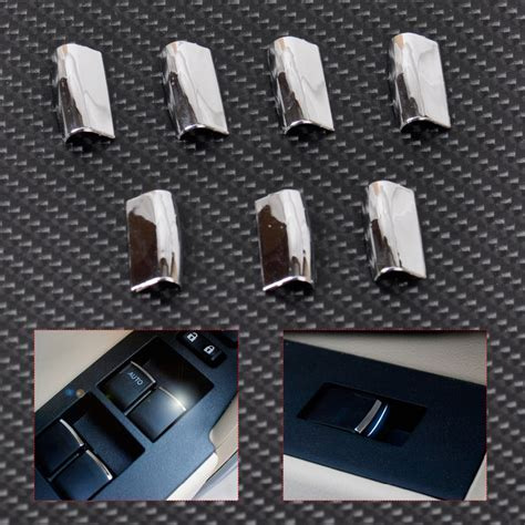Cover Kaver Spion Yaris E J S 2007 2008 2009 2010 2011 2012 2012 Tfs citall new 7pcs chrome door window switch lift button cover trim for toyota rav4 corolla 2014