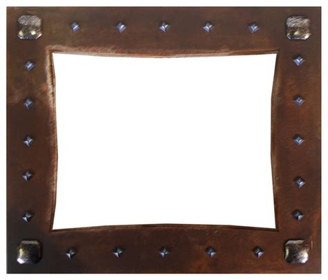 Rustic Picture Frames Nail Head Embellished Iron Picture