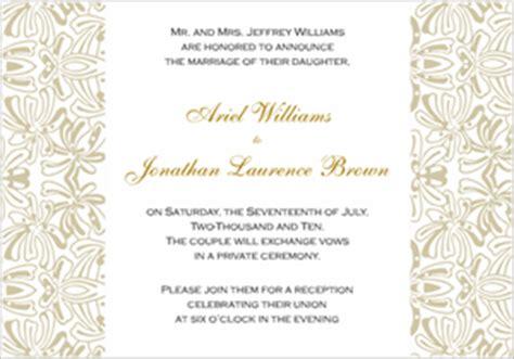 Proper Language For Wedding Invitations