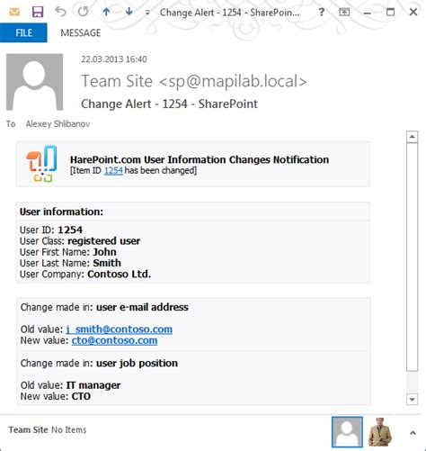 Harepoint Custom Alerts For Sharepoint It Alert Email Template