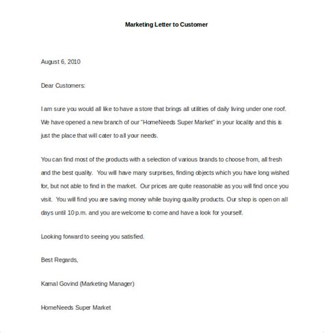 Marketing Letter Template 38 Free Word Excel Pdf Documents Download Free Premium Templates Letter Template To Customers