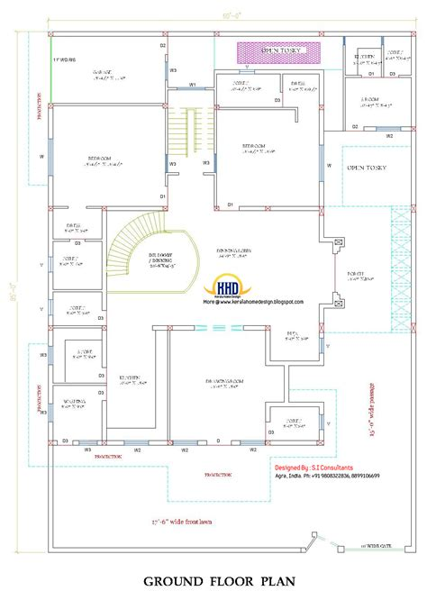 floor plan of house in india indian home design with plan 5100 sq ft kerala home