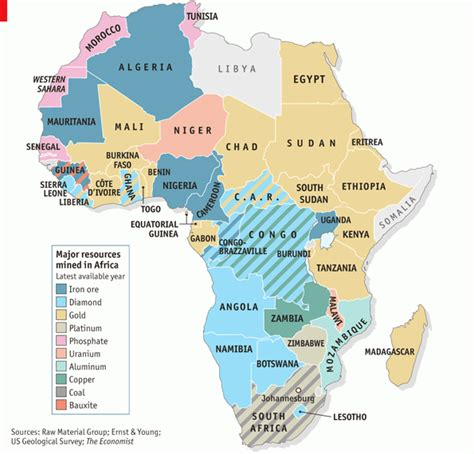 Africa Resources Map by Scramble For Africa Resources World History With Ls